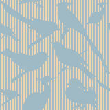 Seamless pattern with birds. Can be used as wedding background, fabric print, wrapping paper, web page backdrop, wallpaper. Vector illustration Stock Photo