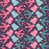 Seamless pattern with birds Royalty Free Stock Images