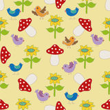Seamless pattern with birds. Royalty Free Stock Photo