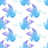 Seamless pattern with birds. Stock Photo