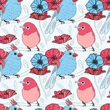 Seamless pattern with birds Royalty Free Stock Photography