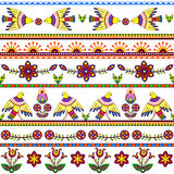 Seamless pattern with birds and flowers. Floral Stock Images
