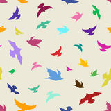 Seamless pattern of birds Royalty Free Stock Images