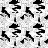 Seamless pattern with birds. Royalty Free Stock Photography