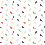 Seamless pattern with birds. Geometric style. Stock Photography