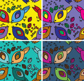 Seamless pattern with birds and leaves Royalty Free Stock Photo