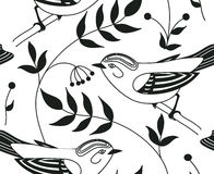 Seamless pattern with birds. Patterns can be used as background, fabric print, texture, wrapping paper, web page backdrop, wallpaper. Vector illustration Stock Image