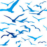 Seamless pattern with birds silhouettes Stock Image