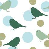 Seamless pattern with birds Stock Photos