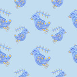Seamless pattern with birds. Stock Photo