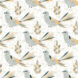 Seamless pattern with birds Royalty Free Stock Image