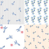 Seamless pattern birds vector elements summer print. Vector artwork for printing on fabric royalty free illustration