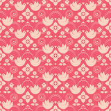 Seamless pattern with birds. Seamless vector pattern with birds and floral motifs Stock Photo