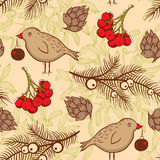 Seamless pattern with birds Stock Images