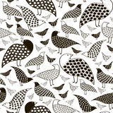 Seamless pattern of birds white and black Royalty Free Stock Image
