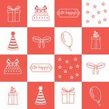 Seamless pattern Birthday, birthday party Stock Photos