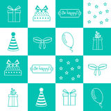 Seamless pattern Birthday, birthday party Royalty Free Stock Images