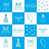 Seamless pattern Birthday, birthday party Royalty Free Stock Photo
