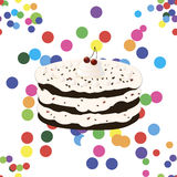 Seamless pattern with birthday cake Stock Images