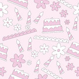 Seamless Pattern Of Birthday Elements Background Royalty Free Stock Images