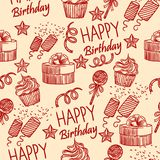 Birthday gifts pattern 1 royalty free illustration