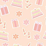 Seamless Pattern Of Birthday Elements Stock Photography