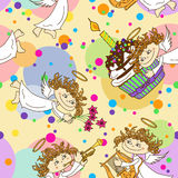 Seamless pattern for birthday party Royalty Free Stock Photo