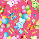 Seamless pattern for birthdays Stock Photos