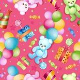 Seamless pattern for birthdays Stock Photos