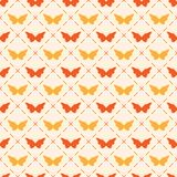 Seamless pattern with bitterflies Stock Photography