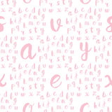Seamless pattern with black alphabet letters Royalty Free Stock Photos