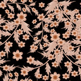 Seamless  pattern on a black background. Seamless floral pattern on a black background Royalty Free Stock Images