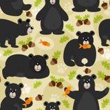 Seamless pattern black bear. Vector illustration, eps Stock Image
