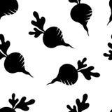 Seamless pattern with black beets. Vector illustration stock illustration