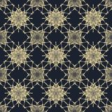 Seamless pattern in black and beige colors Royalty Free Stock Image