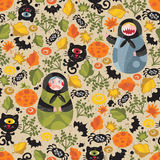 Seamless pattern with black cats. Stock Photography