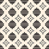 Seamless pattern with black circles and gray diamonds Royalty Free Stock Image