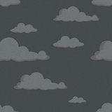 Seamless pattern with black clouds vector illustration