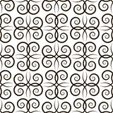 Seamless pattern with black curls Stock Photography