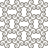 Seamless pattern with black curls Royalty Free Stock Photos