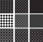 Seamless Pattern Black Diamond Stock Images