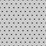 Seamless pattern black dotted veil, black mesh Royalty Free Stock Images