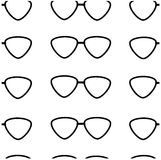 Seamless pattern of black glasses Royalty Free Stock Image