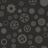 Seamless pattern with black and gray gears. Seamless pattern with black and white gears on a gray background Stock Image