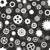 Seamless pattern with black and gray gears. Seamless pattern with black and white gears on a gray background Vector Illustration