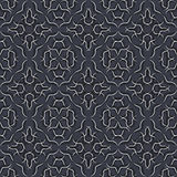 Seamless pattern in black grey and white, vector. Stock Images