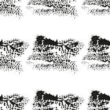 Seamless pattern with black inky smudges. Abstract repeating pattern witn black dots on white background Stock Photography