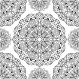 Seamless pattern with black medallions Royalty Free Stock Photos