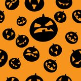 Seamless pattern with black pumpkins Royalty Free Stock Photography