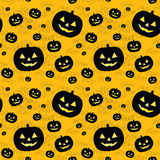 Seamless pattern with black pumpkins Stock Image